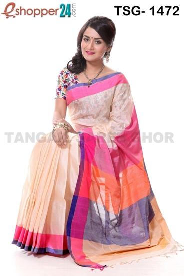 Picture of Tashar Silk Saree - TSG-1472
