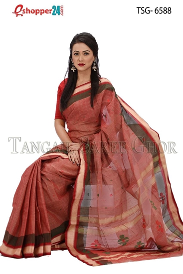Picture of Pure Cotton Saree - TSG-6588