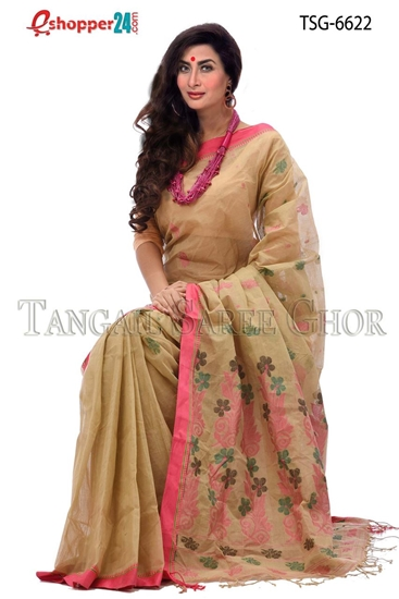 Picture of Handwork Pure Cotton Saree -TSG-6622