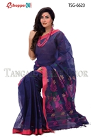 Picture of Handwork Pure Cotton Saree -TSG-6623