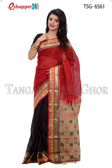 Picture of Soft cotton saree -TSG-6561