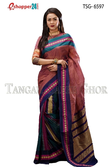 Picture of Soft cotton saree -TSG-6597