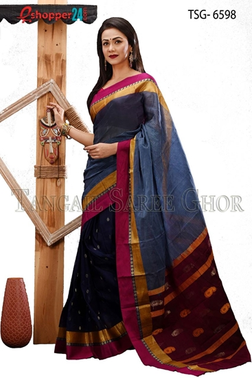 Picture of Soft cotton saree -TSG-6598
