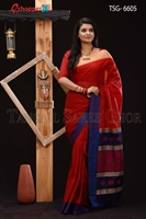 Picture of Soft cotton saree -TSG-6605