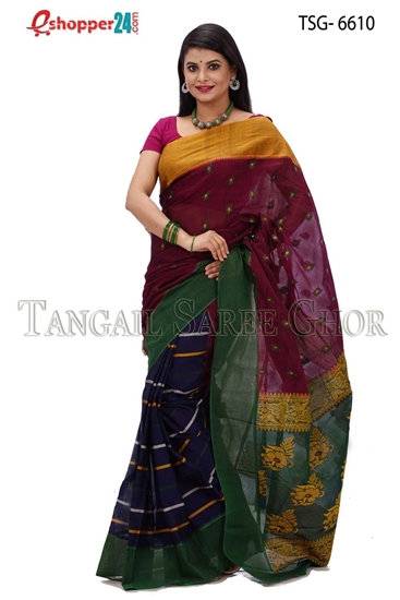 Picture of Soft cotton saree -TSG-6610