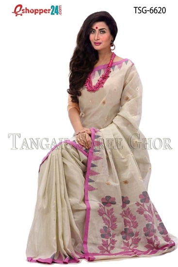 Picture of Soft cotton saree -TSG-6620