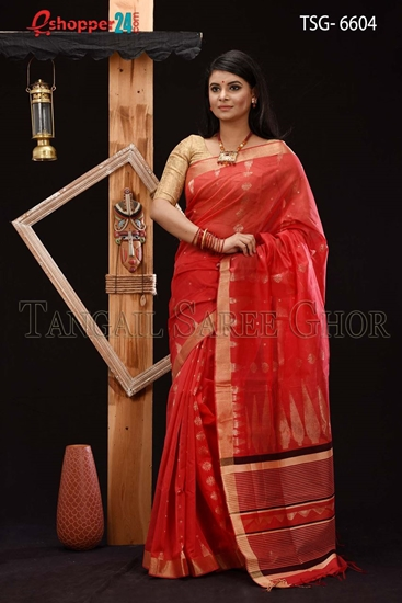 Picture of Half Silk Saree - TSG-6604