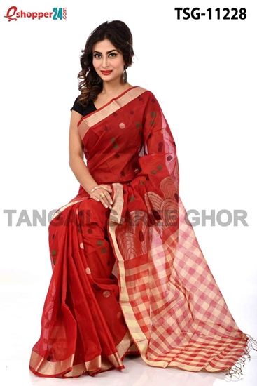 Picture of Half Silk Saree - TSG-11228