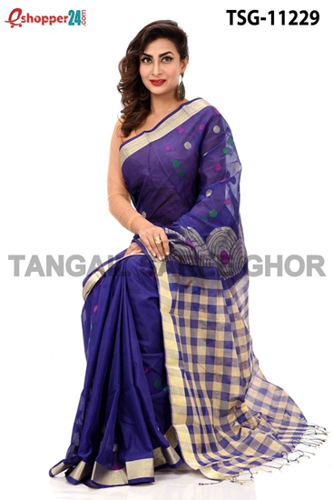 Picture of Half Silk Saree - TSG-11229