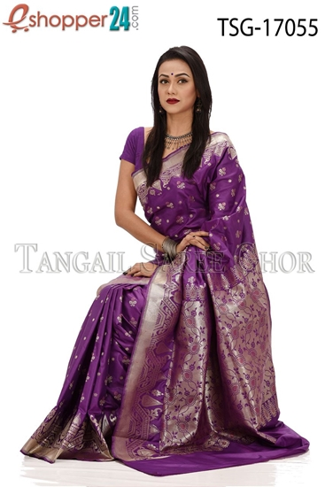 Picture of Buty Katan Saree - TSG-17055