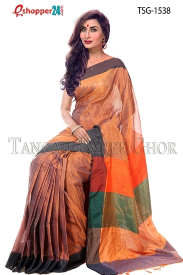 Picture of Tashar Silk Saree - TSG-1538