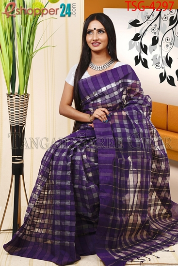 Picture of Half  Silk  Saree - TSG-4297