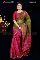 Picture of Mosline Jamdani  Saree - TSG-9303