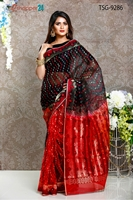 Picture of Moslin Jamdani Saree- TSG-9286