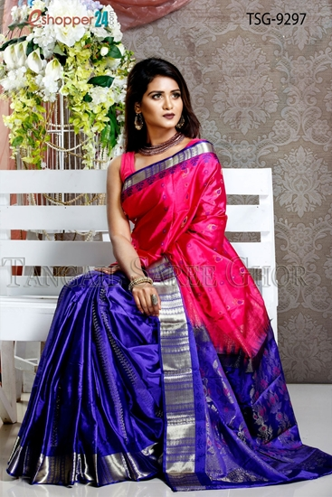 Picture of soft Silk  Saree  - TSG-9297