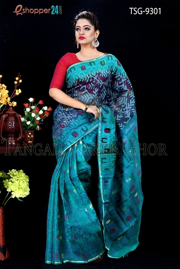 Picture of Moslin Jamdani Saree- TSG-9301