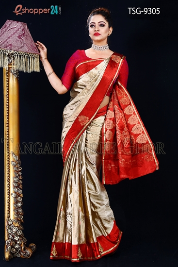 Picture of Soft Silk  Saree- TSG-9305