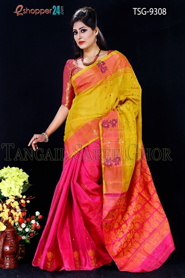 Picture of Tashar Silk  Saree - TSG-9308