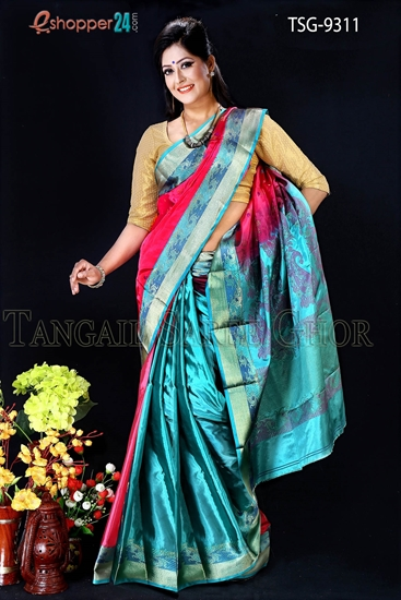 Picture of Soft Silk Saree- TSG-9311