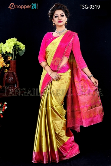 Picture of Soft Silk Saree- TSG-9319