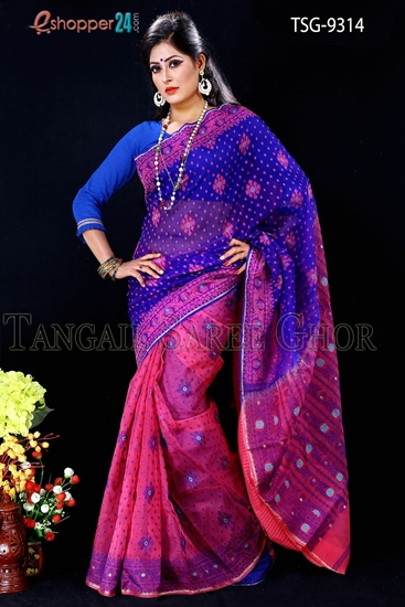 Picture of Moslin Jamdani Saree- TSG-9314