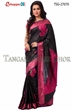 Picture of plane figur katan saree - TSG-27070