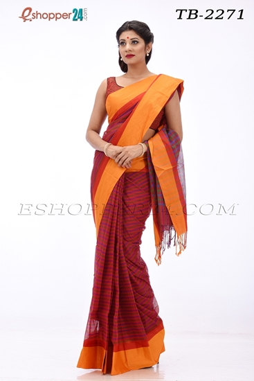 Picture of Soft cotton Saree - TB-2271