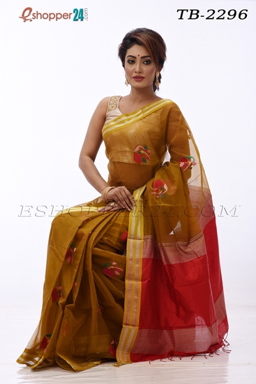 Picture of Moslin Jamdani Saree- TB-2296