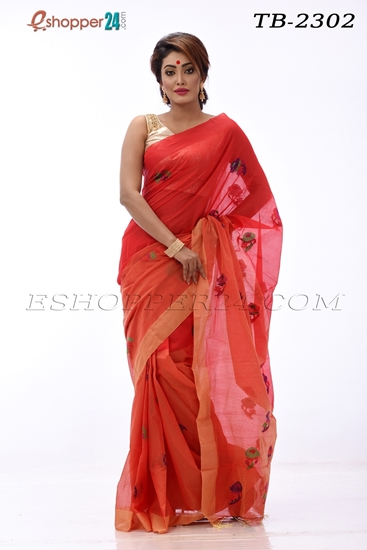 Picture of Moslin Jamdani Saree- TB-2302