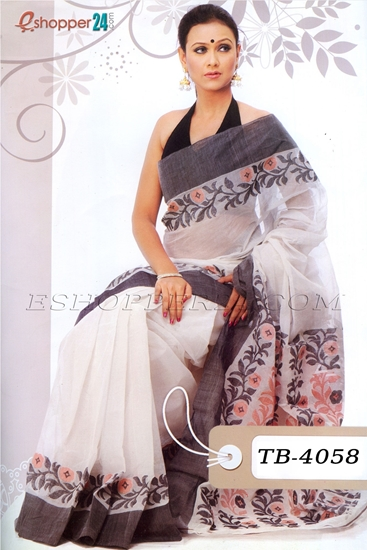 Picture of Handwork Jamdani Cotton Saree - TB-4058