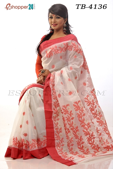 Picture of Hand work pure cotton Saree -TB-4136