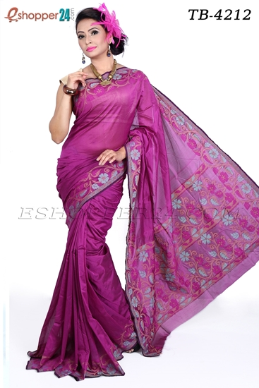 Picture of Gas Silk Saree - TB-4212