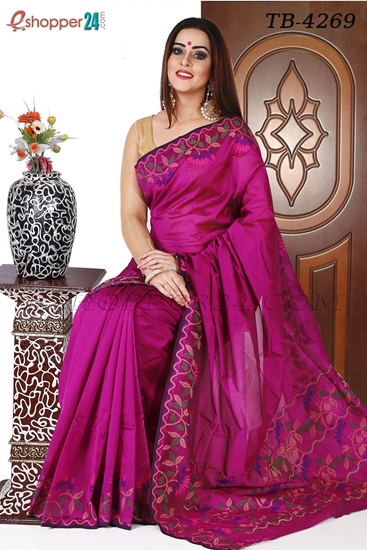 Picture of Half Silk Saree- TB-4269
