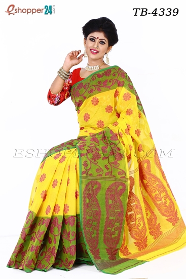 Picture of Hand work pure cotton Saree -TB-4339