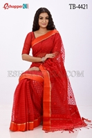 Picture of Moslin Jamdani Saree - TB-4421