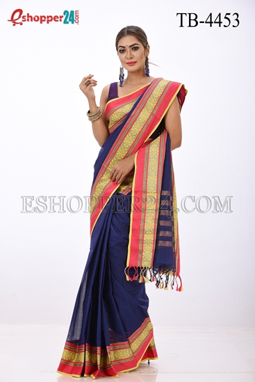 Picture of Cotton Velvet Saree -TB-4453