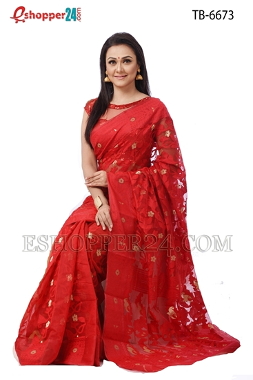 Picture of Soft Moslin Jamdani   Saree - TB-6673