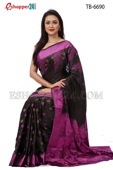 Picture of Soft Silk Saree- TB-6690