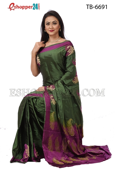 Picture of Soft Silk Saree- TB-6691