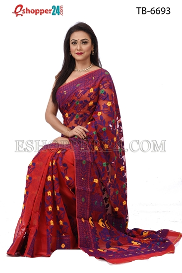 Picture of Soft Moslin Jamdani   Saree - TB-6693