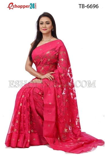Picture of Soft Moslin Jamdani   Saree - TB-6696