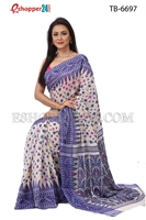 Picture of Soft Moslin Jamdani   Saree - TB-6697