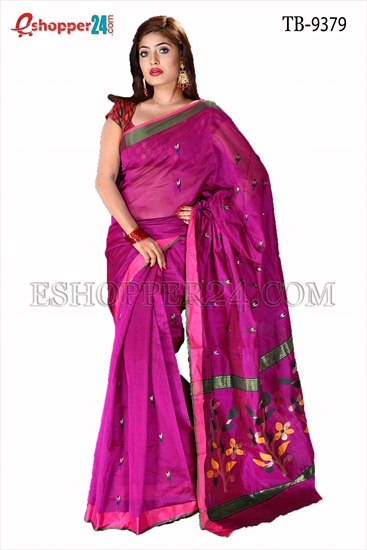 Picture of Half Silk Handwork Saree- TB-9379