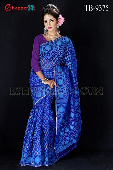 Picture of Silk Jamdani Saree -TB-9375