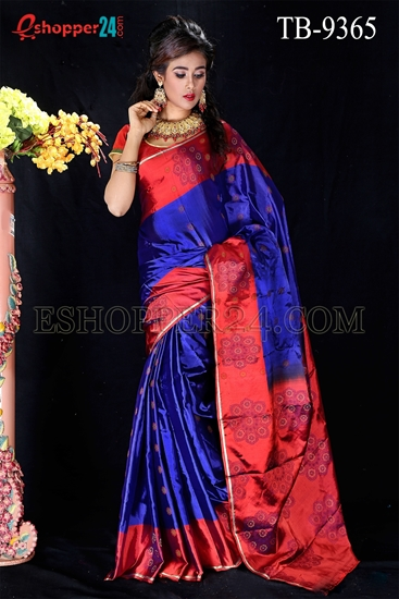 Picture of Soft Silk Saree- TB-9365