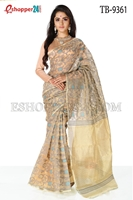 Picture of Moslin Jamdani Saree - TB-9361