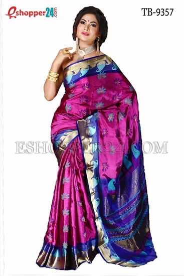 Picture of Soft Silk Saree- TB-9357