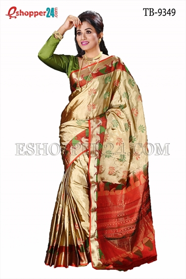 Picture of Soft Silk Saree- TB-9349