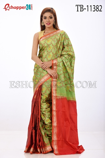 Picture of Soft Silk Saree- TB-11382