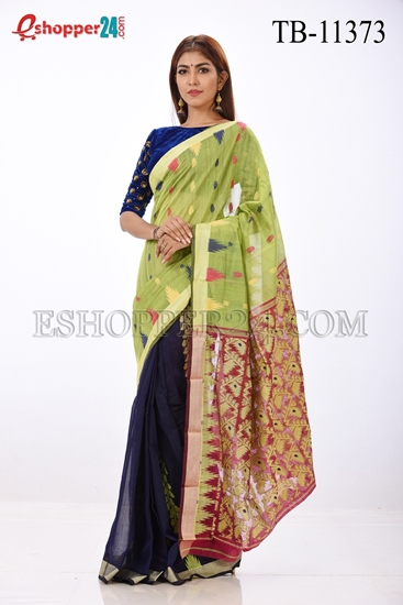 Picture of Jute Silk Saree- TB-11373
